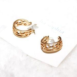 Lia Sophia Small Gold Tone Hoop Earrings